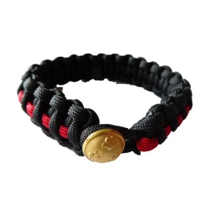 Thin Red Line Paracord Armband