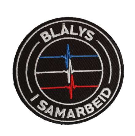 Blålys i Samarbeid Iron on Patch