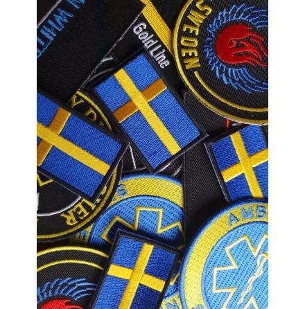 Broderat Tygmärke 5x3 cm Rektangulärt Egen Design
